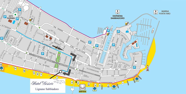 mappa Lignano Sabbiadoro